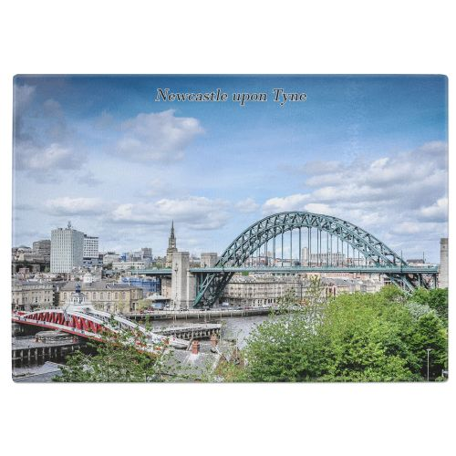 Newcastle upon Tyne Tempered Glass Chopping Board